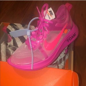 """PINK OFF-WHITE """"NIKE ZOOM FLY"""" SNEAKERS SIZE 6 WMN"""